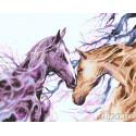 Любовь лошади Раскраска картина по номерам на холсте