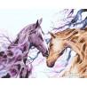 Любовь лошади Раскраска картина по номерам на холсте GX26900