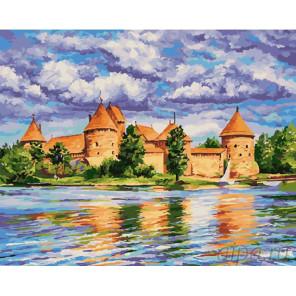 Тракайский замок Раскраска картина по номерам на холсте GX26898