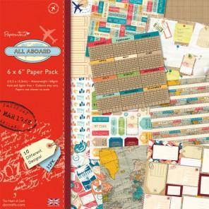 All Aboard Набор бумаги 15x15 для скрапбукинга, кардмейкинга Docrafts