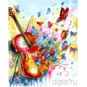Звуки бабочек Раскраска картина по номерам на холсте