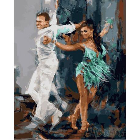 Современное Танго Раскраска картина по номерам на холсте GX27028