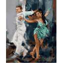 Современное Танго Раскраска картина по номерам на холсте