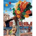 Следуй за мной. Бруклинский мост Алмазная картина-раскраска