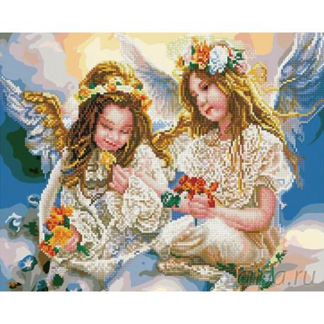 Девочки-ангелы Алмазная картина-раскраска