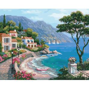 Курортный пейзаж Алмазная картина-раскраска