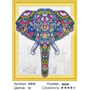 Количество цветов и сложность Индийский слон Алмазная вышивка мозаика 5D LP015