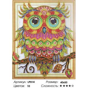 Количество цветов и сложность Радужная сова Алмазная вышивка мозаика 5D LP014