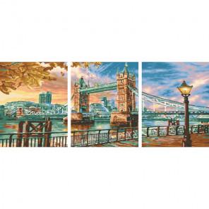 Набережная Темзы Триптих Раскраска картина по номерам на холсте PX5235
