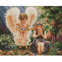 Ангел и девочка Алмазная мозаика вышивка Painting Diamond