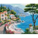 Крымский берег Алмазная мозаика вышивка Painting Diamond GF235