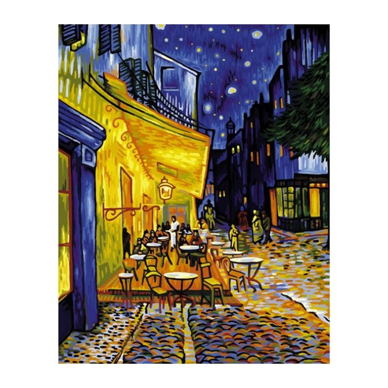 Ночное кафе ( репродукция Ван Гог) Раскраска по номерам ...