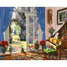 Комната с выходом в сад Раскраска картина по номерам на холсте GX25472