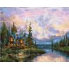 Дом у горных вершин Раскраска картина по номерам на холсте GX25803