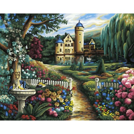 Летний замок Раскраска по номерам акриловыми красками Schipper (Германия)
