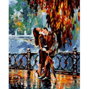 Страстный осенний поцелуй Раскраска картина по номерам на холсте