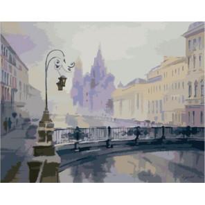 Зимний Петербург Раскраска картина по номерам на холсте
