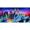 Ночной Манхеттен Раскраска по номерам акриловыми красками Schipper (Германия)