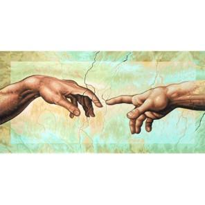 Сотворение Адама ( репродукция Микеланджело Буонаротти) Раскраска по номерам акриловыми красками Schipper (Германия)