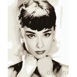 Портрет Одри Хепберн Раскраска картина по номерам на холсте