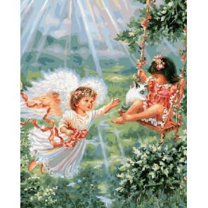 Играющие ангелы Раскраска картина по номерам на холсте
