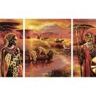 Килиманджаро Триптих Раскраска по номерам акриловыми красками Schipper (Германия)