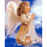 Молитва маленького ангела Раскраска картина по номерам на холсте