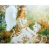 Ангел и лесные жители Раскраска картина по номерам на холсте