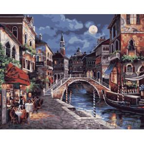 Вечерняя венеция Раскраска картина по номерам на холсте G350