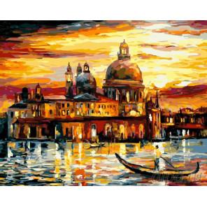 Золотой закат в Венеции Раскраска картина по номерам на холсте GX6753