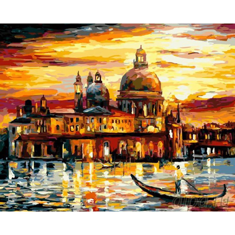GX6753 Золотой закат в Венеции Раскраска картина по ...
