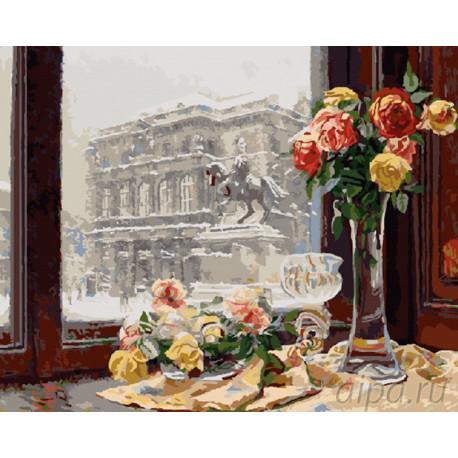 GX9078 Петербург за окном Раскраска картина по номерам на ...