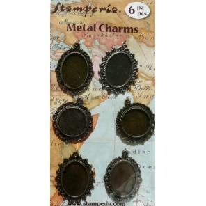 Рамочки бронзовые Подвески металлические для скрапбукинга, кардмейкинга
