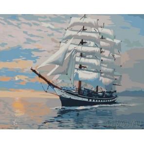 Парусник Паллада Раскраска картина по номерам на холсте GX7000