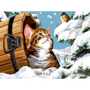 Зимняя беседа Раскраска картина по номерам на холсте EX5581