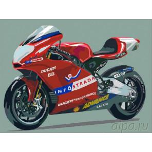 Мотоцикл Дукати Раскраска картина по номерам на холсте EX5071