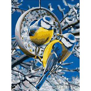 Синички Раскраска картина по номерам на холсте EX5418