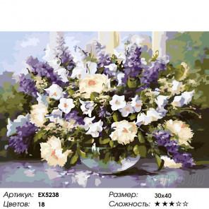 Количество цветов и сложность Аромат весенних цветов Раскраска картина по номерам на холсте EX5238