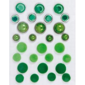 Зеленые Брадсы Набор для скрапбукинга, кардмейкинга Cart-Us