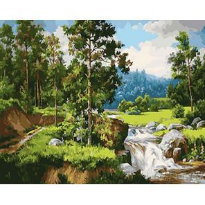 Летняя природа Раскраска картина по номерам на холсте GX24784