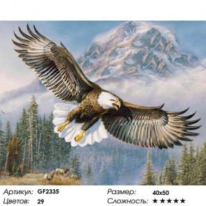 Орел Алмазная вышивка мозаика на подрамнике GF2335