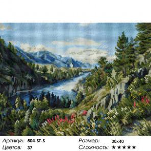Количество цветов и сложность Река Катунь Алмазная вышивка мозаика на подрамнике Белоснежка 504-ST-S