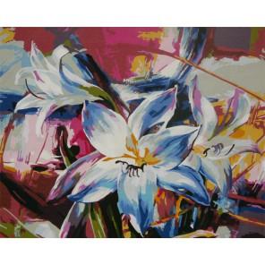 Лилия Раскраска по номерам акриловыми красками на холсте Worad Art