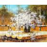 Букет полевых ромашек Картина по номерам на дереве Molly KD0056