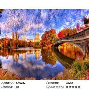 Количество цветов и сложность Отражения осени Раскраска картина по номерам на холсте Molly KH0232