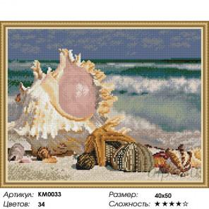 Количество цветов и сложность Шум прибоя Алмазная мозаика вышивка на подрамнике Molly KM0033