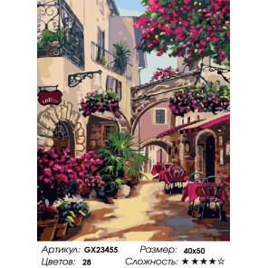 Уличное кафе Раскраска картина по номерам на холсте GX23455