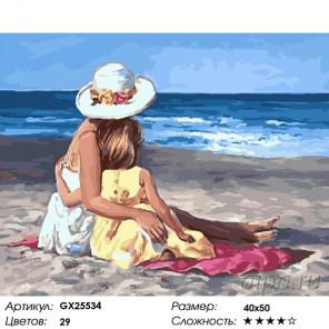Количество цветов и сложность Любуясь прибоем Раскраска картина по номерам на холсте GX25534