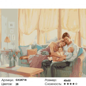 Семейное счастье Раскраска картина по номерам на холсте GX24718