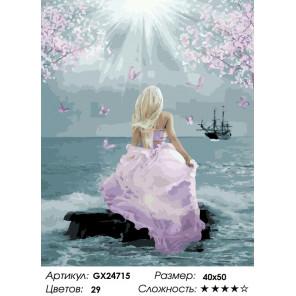 Количество цветов и сложность Встречая корабли Раскраска картина по номерам на холсте GX24715